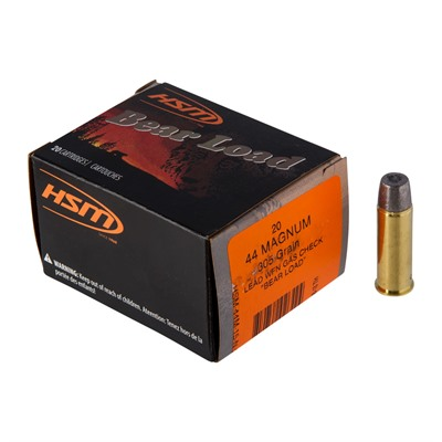 Hsm Ammunition Bear Load 44 Magnum Ammo - 44 Remington Magnum 305gr Lead Flat Nose 20/Box