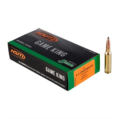 Hsm Ammunition Game King 6.5 Creedmoor Ammo - 6.5 Creedmoor 140gr Spitzer Boat Tail 20/Box