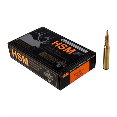 Hsm Ammunition Trophy Gold 30-06 Springfield Ammo - 30-06 Springfield 168gr Vld Hunting 20/Box