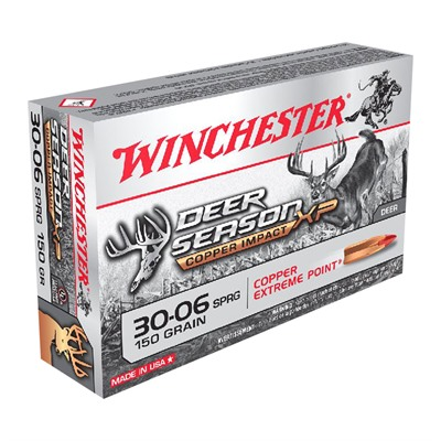 Winchester Deer Season Xp Copper Impact 30-06 Springfield Ammo - 30-06 Springfield 150gr Extreme Point Polymer Tip 20/Box