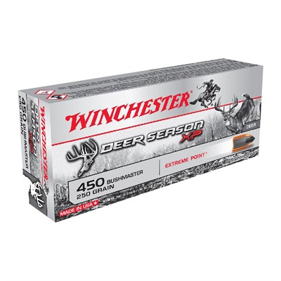 Winchester Deer Season Xp 450 Bushmaster Ammo - 450 Bushmaster 250gr Extreme Point Polymer Tip 20/Box