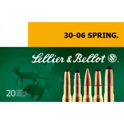Sellier & Bellot 30-06 Springfield 180gr Spce Ammo - 30-06 Springfield 180gr Soft Point Cutting Edge 20/Box