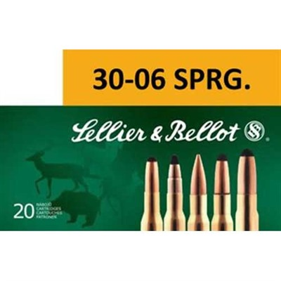 Sellier & Bellot 30-06 Springfield 168gr Hpbt Ammo - 30-06 Springfield 168gr Hollow Point Boat Tail 20/Box