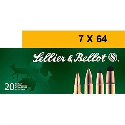Sellier & Bellot 7x64mm Brenneke 173gr Spce Ammo - 7x64mm Brenneke 173gr Soft Point Cutting Edge 20/Box