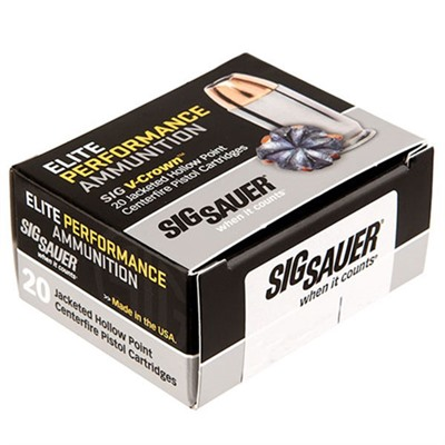 Sig Sauer Elite Performance Ammo 38 Special +p 125gr Jhp