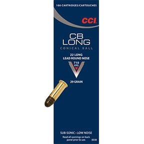 Cb Long Ammo 22 Cb Long 29gr Lead Round Nose - 22 Cb Long 29gr Lead Round Nose 100/Box