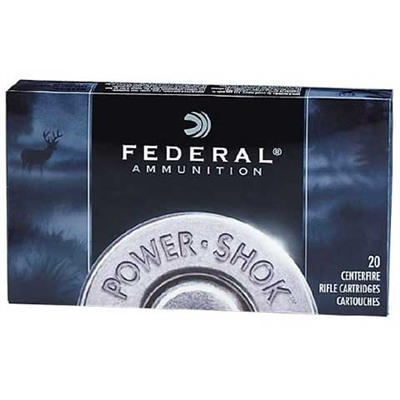 Federal Power Shok Ammo 270 Winchester 150gr Soft Point Rn 270 Winchester 150gr Soft Point Round Nose 20 Box