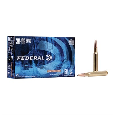 Power-Shok Soft Point Ammunition - Federal Ammo 30-06 Spgfld 150gr Hshk Sp 20rnds/Bx