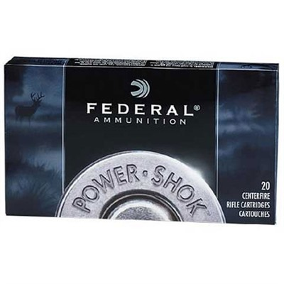 Federal Power Shok Soft Point Ammunition Federal Ammo 30 06 Spgfld 180gr Hshk Sp 20rnds/Bx Discount
