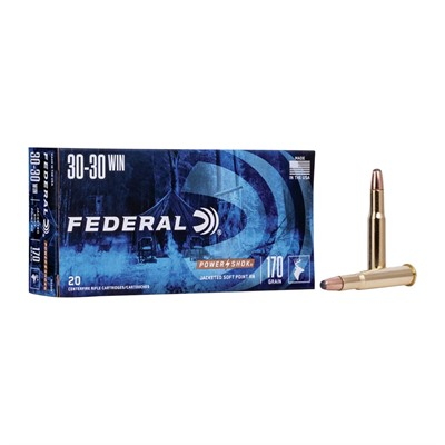 Federal Power Shok Ammo 30 30 Winchester 170gr Soft Point Rn 30 30 Winchester 170gr Soft Point Round Nose 20 Box