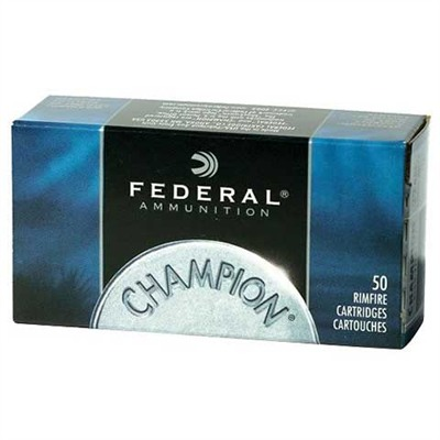 Federal 22 Win. Mag Champion Target Ammunition - Federal Ammo 22 Mag 40gr Fmj 50/Bx
