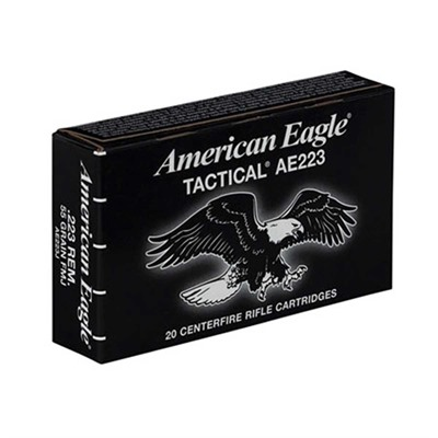 American Eagle Tactical Ammo 223 Remington 55gr Fmj-Bt - 223 Remington 55gr Full Metal Jacket Bt 20/