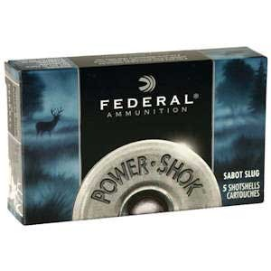 Federal Power-Shok Ammo 20 Gauge 2-3/4