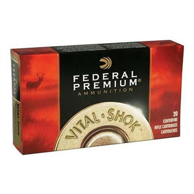 Federal Vital-Shok Ammo 338 Win Mag 210gr Nosler Partition - 338 Winchester Magnum 210gr Nosler Partition 20/Box