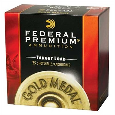 Gold Metal Target Shotshells - Federal Shells 75 Gold Medal 12ga 2 3/4    1 1/8oz