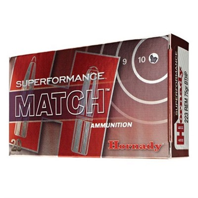 Hornady Superformance Match Ammo 5.56x45mm Nato 75gr Hpbt 5.56x45mm Nato 75gr Hollow Point Boat Tail 20/Box Online Discount