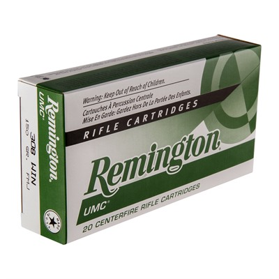 REMINGTON UMC AMMO 308 WINCHESTER 150GR FMJ | Police Store