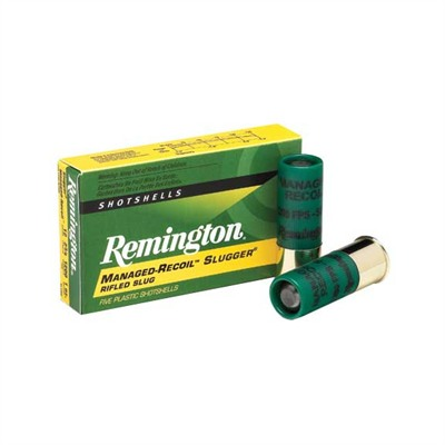Slugger Managed-Recoil Rifled Slug Shotgun Ammo