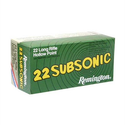 22 Subsonic Ammo 22 Long Rifle 38gr Cphp - 22 Long Rifle 38gr Copper Plated Hollow Point 50/Box