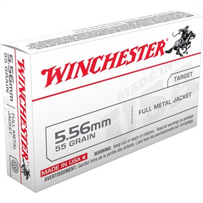 Winchester Usa White Box Ammo 5 56x45mm Nato 55gr Fmj 5 56x45mm Nato 55gr Full Metal Jacket 20 Box