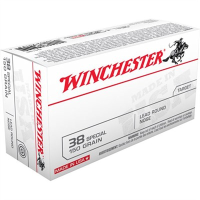 Winchester White Box Ammo 38 Special 150gr Lrn 38 Special 150gr Lead Round Nose 50/Box