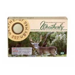 Weatherby Spitzer Rifle Ammo