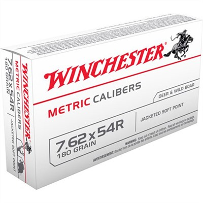 Winchester Usa White Box Ammo 7.62x54r 180gr Sp