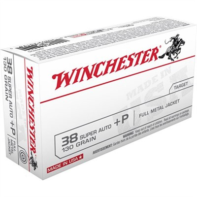 Winchester Usa White Box Ammo 38 Super +p 130gr Fmj