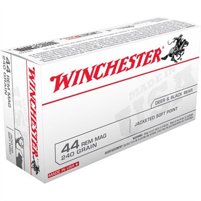 Winchester Usa White Box Ammo 44 Remington Magnum 240gr Jsp