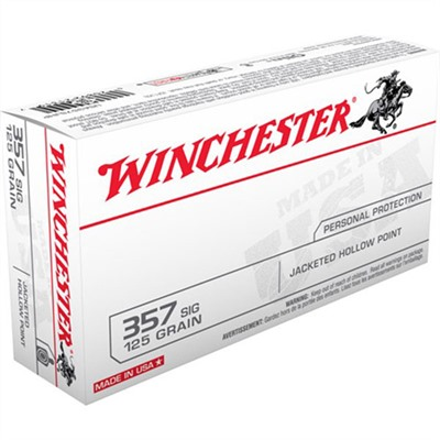 Winchester Usa White Box Ammo 357 Sig 125gr Jhp