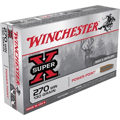 WINCHESTER - SUPER-X AMMO 270 WINCHESTER 130GR POWER-POINT