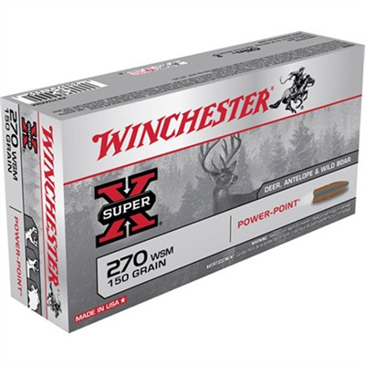 Winchester Super-X Ammo 270 Wsm 150gr Power-Point