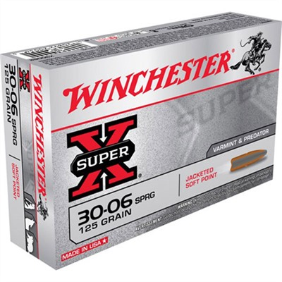 Winchester Super X Ammo 30 06 Springfield 125gr Pointed Sp 30 06 Springfield 125gr Pointed Soft Point 20/box