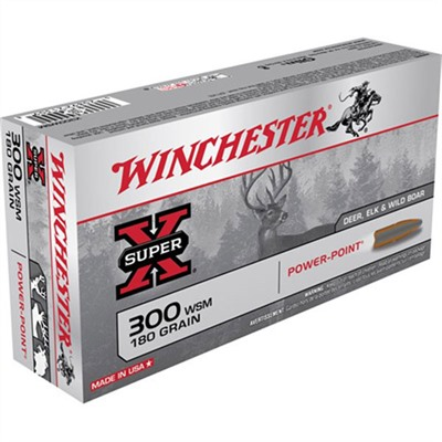Winchester Super-X Ammo 300 Wsm 180gr Power-Point - 300 Wsm 180gr Power-Point 20/Box