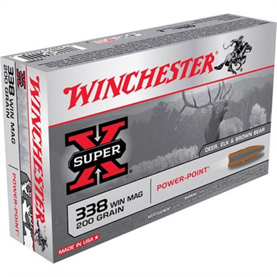 Winchester Super-X Ammo 338 Win Mag 200gr Power-Point