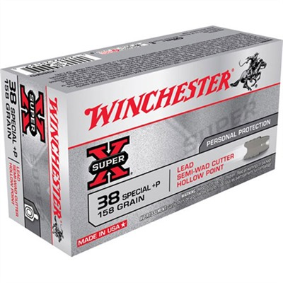 Winchester Super-X Ammo 38 Special +p 158gr Lswc