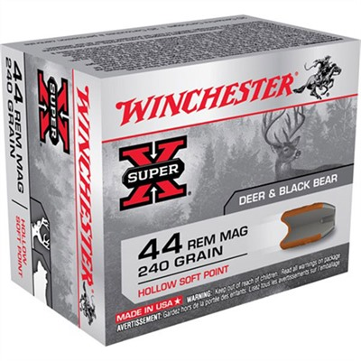 Winchester Super-X Ammo 44 Remington Magnum 240gr Hsp