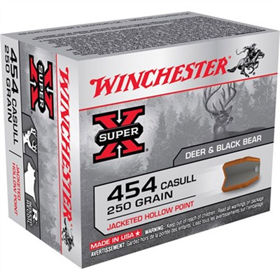 Winchester Super X Ammo 454 Casull 250gr Jhp 454 Casull 250gr Jacketed Hollow Point 20 Box