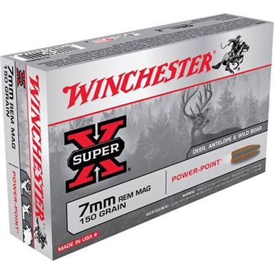 Winchester Super-X Ammo 7mm Remington Magnum 150gr Power-Point