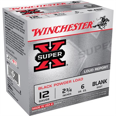 "Super-X Black Powder Ammo 12 Gauge 2-3/4"" Blank Shot - 12 Gauge 2-3/4"" Blank 25/Box"