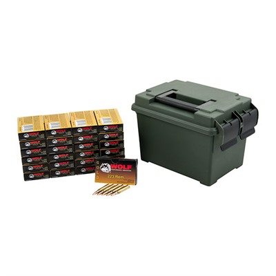 Gold 223 Rem Fmj Ammo Can
