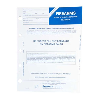 Firearms Record Books - Firearms Record Book, Pkg. 10