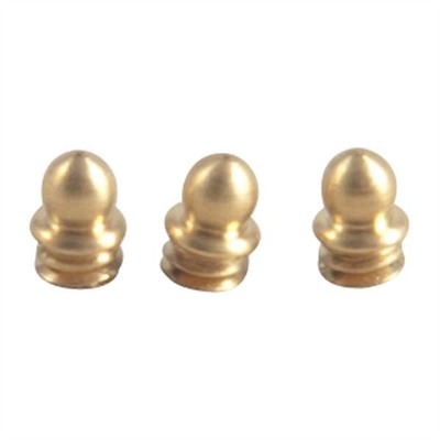 "Sight Beads - Brass Skirted Bead, 1/8"" 5-40 Tpi, Gold, 3-Pak"