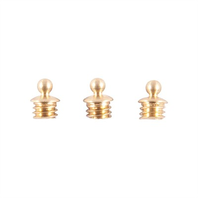 "Sight Beads - Brass Skirted Bead, 1/16"" 3-56 Tpi, Gold, 3-Pak"