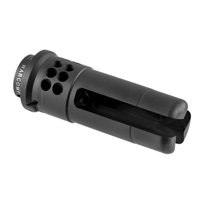 Surefire Ar-15 Warcomp Flash Hider 22 Cal - Warcomp Flash Hider 22 Cal 1/2-28 Stainless Steel Black