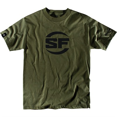 Surefire Button Logo T-Shirt - Surefire Button Logo T-Shirt Olive Drab Large