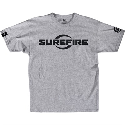 Surefire Logo T-Shirt - Surefire Logo T-Shirt Light Gray Medium