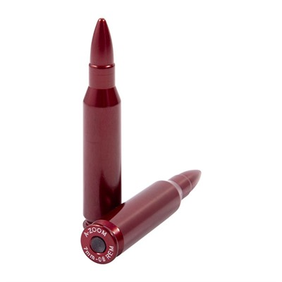 A-Zoom Ammo Snap Cap Dummy Rounds - 7mm-08 Remington Snap Caps 2/Pack