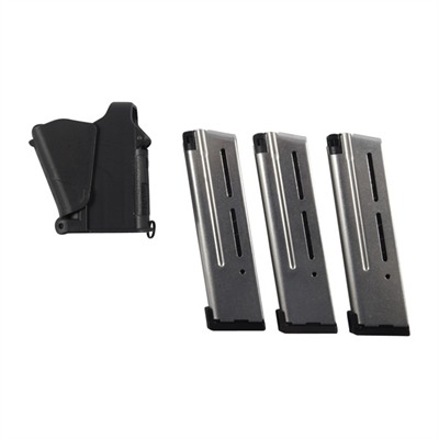 Wilson Combat 1911 Magazines & Loader - 1911 Elite 10rd 3 Pack W/ Loader