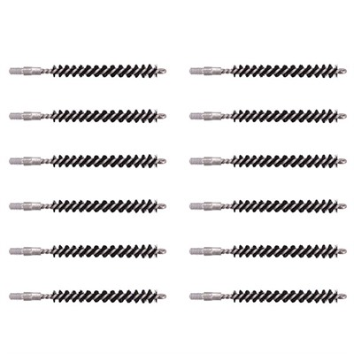 Dewey Copper Eliminator Bore Brushes - .24/6mm 8-32 Male-Thread, 12-Pak